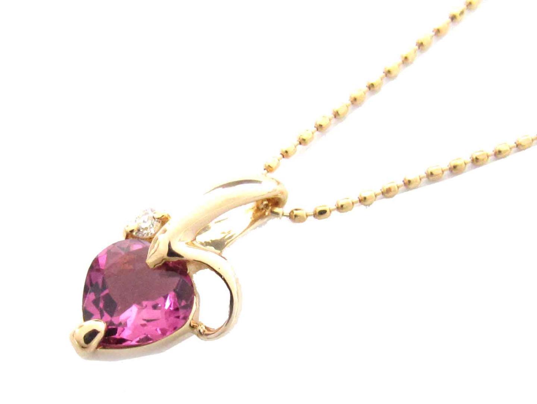 【送料無料】ジュエリー トルマリン ダイヤモンド ネックレス レディース K18PG(750) ピンクゴールド x トルマリン x ダイヤモンド(0.02ct) | JEWELRY ネックレス 新品 18K K18 18金 ブランドオフ BRAND OFF