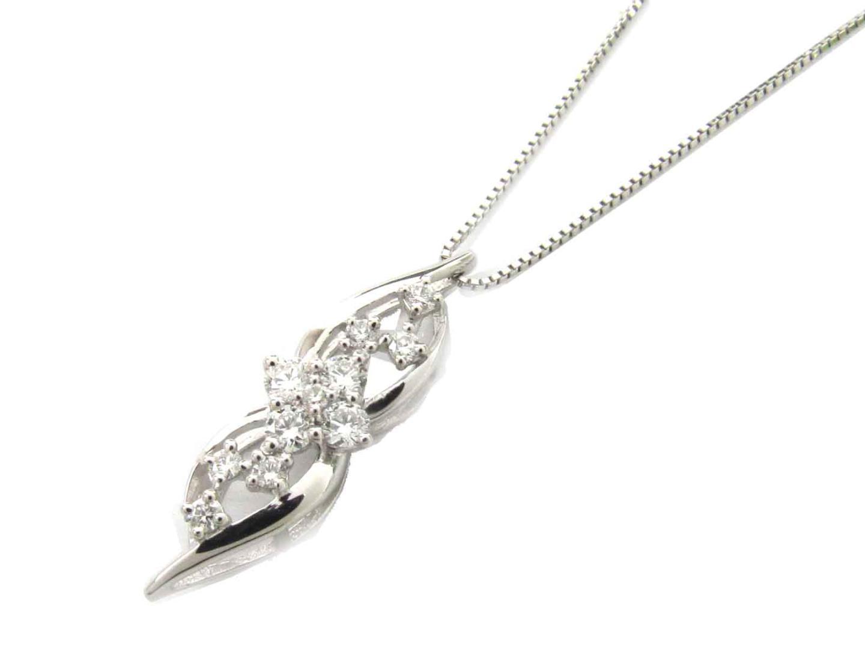 【送料無料】ジュエリー ダイヤモンド ネックレス レディース PT900 プラチナ x PT850 プラチナ x ダイヤモンド(0.31ct) | JEWELRY ネックレス 新品 ブランドオフ BRAND OFF