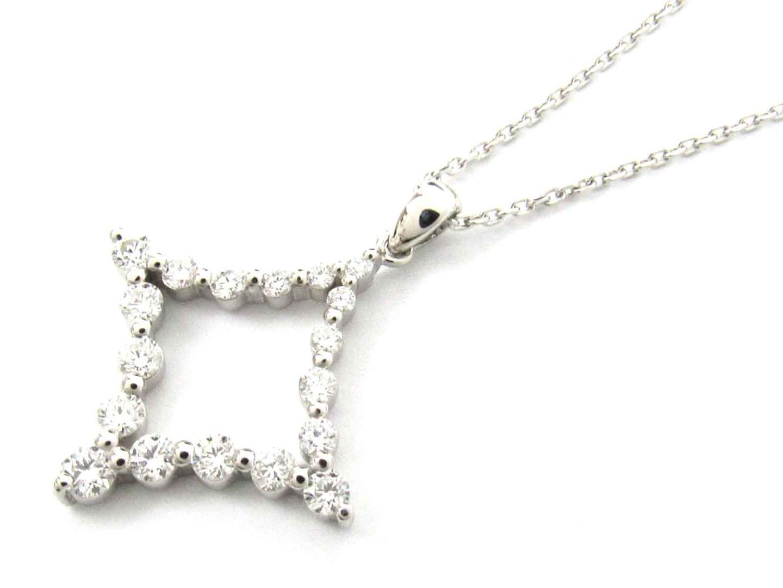 【送料無料】ジュエリー ダイヤモンド ネックレス レディース PT900 プラチナ x PT850 プラチナ x ダイヤモンド(0.50ct) | JEWELRY ネックレス 新品 ブランドオフ BRAND OFF