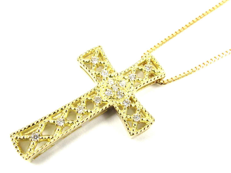 【送料無料】ジュエリー ダイヤモンド ネックレス レディース K18YG(750) イエローゴールド x ダイヤモンド(0.15ct) | JEWELRY ネックレス 新品 18K K18 18金 ブランドオフ BRAND OFF