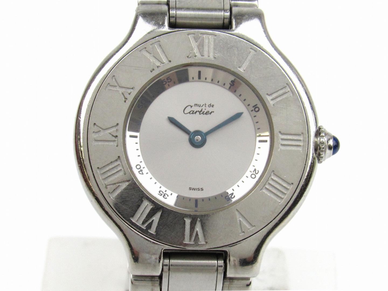 【中古】【送料無料】カルティエ マスト21 ウォッチ 腕時計 レディース ステンレススチール(SS) (1340) | Cartier クオーツ 時計 WATCH 美品 ブランド ブランドオフ BRAND OFF
