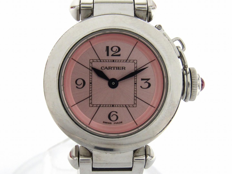 レディース (W3140008) パシャ Cartier 腕時計 時計 ブランドオフ WATCH 美品 OFF ミス BRAND ウォッチ 【中古】【送料無料】カルティエ クオーツ ブランド | ステンレススチール(SS)