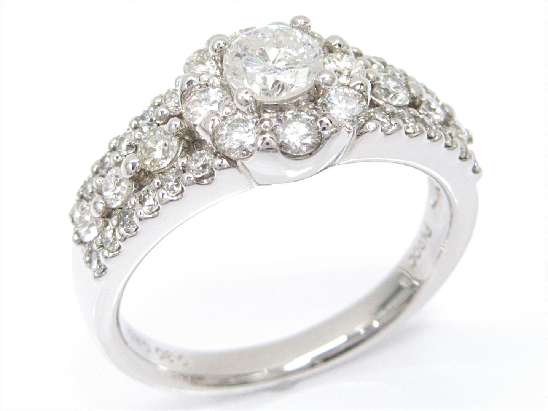 【中古】【送料無料】ジュエリー ダイヤモンドリング 指輪 レディース PT900 プラチナxダイヤモンド(0.30/0.80ct) | JEWELRY リング 美品 ブランドオフ BRAND OFF
