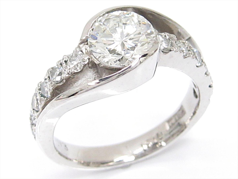 【中古】【送料無料】ジュエリー ダイヤモンドリング 指輪 レディース PT900 プラチナxダイヤモンド(1.03/0.31ct) | JEWELRY リング ダイヤリング 美品 ブランドオフ BRAND OFF
