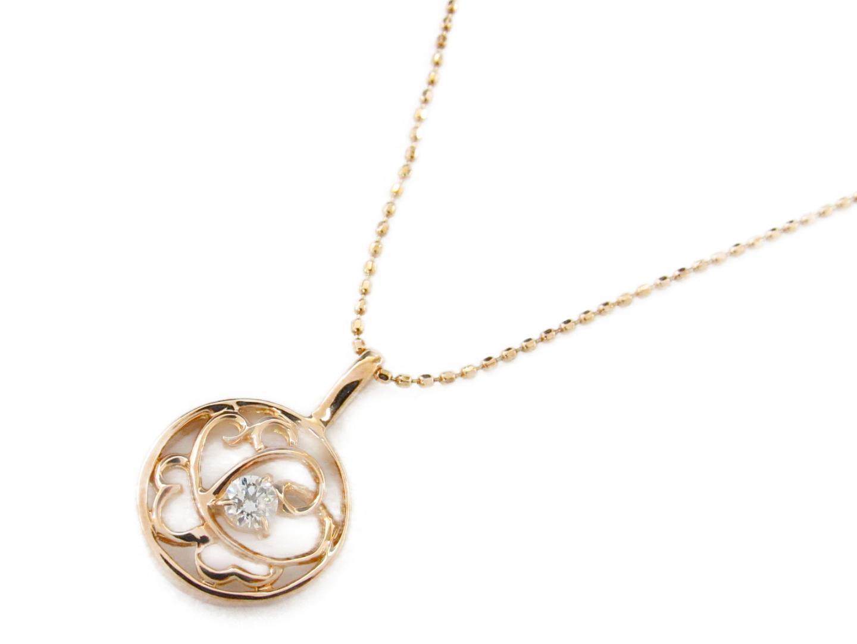 【送料無料】ジュエリー ダイヤモンド ネックレス レディース K18PG(750) ピンクゴールドxダイヤモンド0.09ct   JEWELRY ネックレス 新品 18K K18 18金 ブランドオフ BRAND OFF
