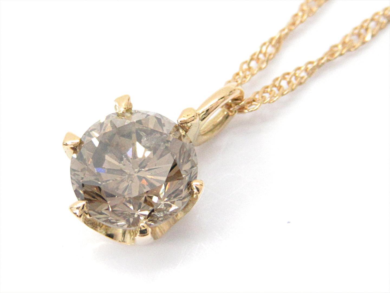 【中古】【送料無料】ジュエリー 一粒ダイヤモンドネックレス レディース K18YG(750) イエローゴールドxダイヤモンド(0.5ct) | JEWELRY ネックレス ダイヤネックレス 美品 18K K18 18金 ブランドオフ BRAND OFF