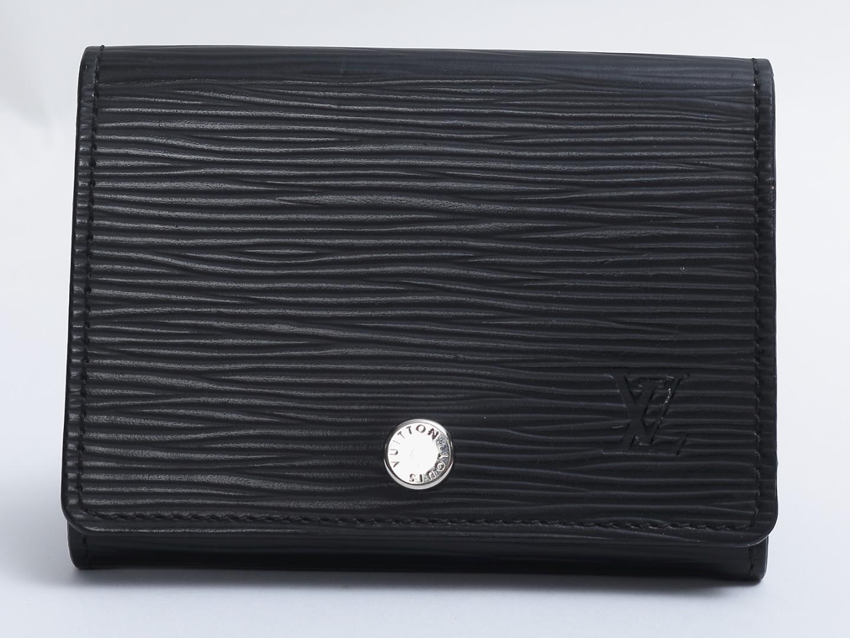【中古】ルイヴィトン アンヴェロップ カルト ドゥ ヴィジット カードケース 名刺入れ メンズ エピ ノワール ブラック (M56169) | LOUIS VUITTON ヴィトン ビトン ルイ・ヴィトン ケース 美品 ブランド ブランドオフ BRAND OFF