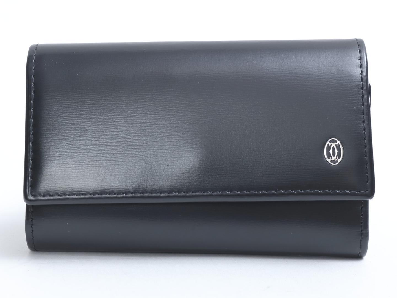 【中古】カルティエ パシャ 6連キーケース メンズ 牛革(カーフ) ブラック (L3000127) | Cartier キーケース 美品 ブランド ブランドオフ BRAND OFF