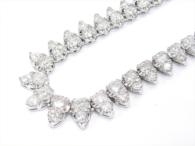 【中古】ジュエリー ダイヤモンドネックレス レディース PT850 プラチナxダイヤモンド(10.00ct)
