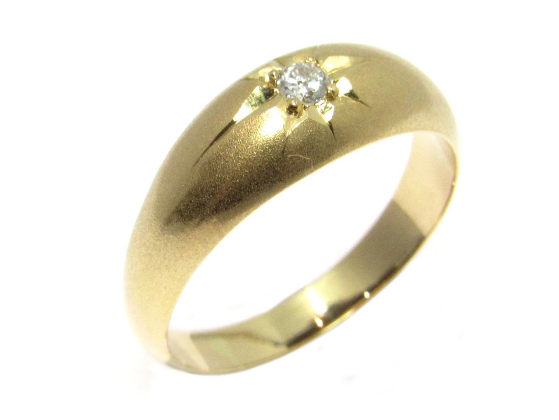 【中古】【送料無料】ジュエリー ダイヤモンドリング メンズ レディース K18YG(750) イエローゴールド×0.10ct ゴールド | JEWELRY リング 美品 18K K18 18金 ブランドオフ BRAND OFF