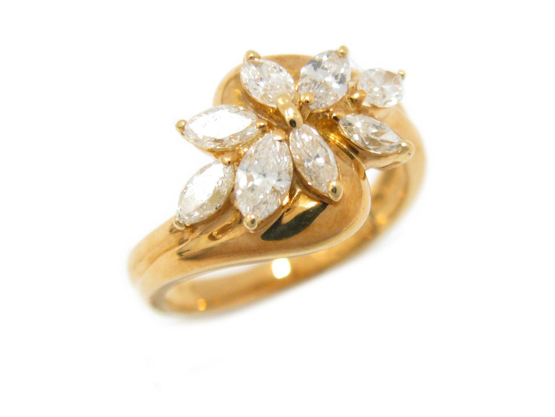 【中古】【送料無料】ジュエリー ダイヤモンド リング 指輪 レディース K18YG(750) イエローゴールド x ダイヤモンド (1.10ct) | JEWELRY リング 美品 18K K18 18金 ブランドオフ BRAND OFF