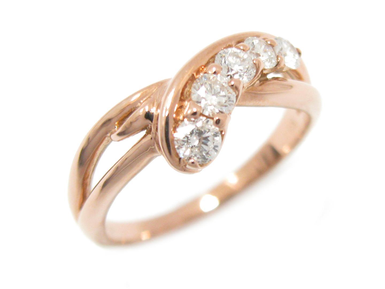 指輪 JEWELRY メンズ K18PG(750) 18金 x 【中古】【送料無料】ジュエリー 18K (0.40ct) OFF リング ダイヤモンド | ダイヤモンド BRAND ピンクゴールド K18 レディース リング ブランドオフ 美品