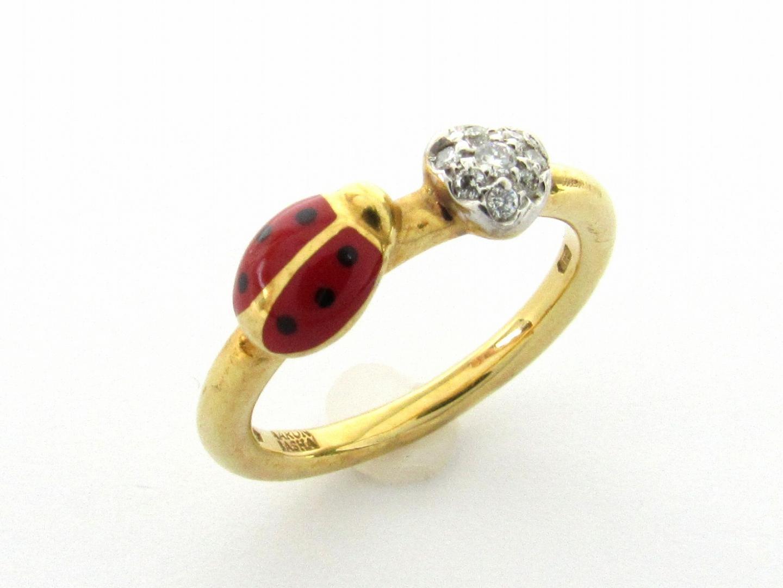 【中古】【送料無料】ジュエリー ダイヤモンド リング 指輪 レディース K18YG(750) イエローゴールド x ダイヤモンド | JEWELRY リング 美品 18K K18 18金 ブランドオフ BRAND OFF