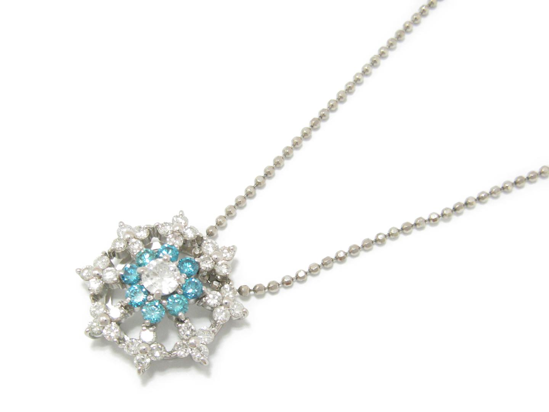 【中古】【送料無料】ジュエリー トリートブルーダイヤモンド ダイヤモンド ネックレス レディース PT900 プラチナ x PT850 x ダイヤモンド (2.00ct) | JEWELRY ネックレス 美品 ブランドオフ BRAND OFF