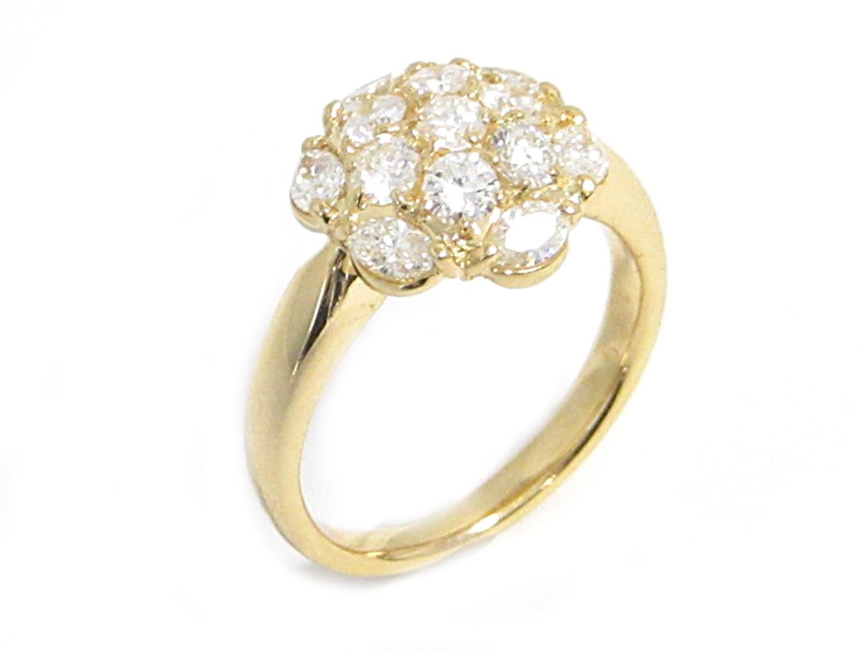 【中古】【送料無料】ジュエリー ダイヤモンドリング 指輪 レディース K18YG(750) イエローゴールド ダイヤモンド1.09ct | JEWELRY リング 美品 18K K18 18金 ブランドオフ BRAND OFF