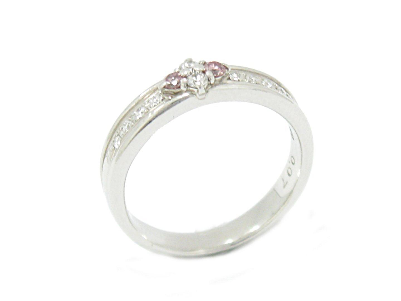 【中古】【送料無料】ジュエリー ピンク ダイヤモンド リング レディース PT900 プラチナ x ピンクダイヤモンド (0.07ct) x ダイヤモンド (0.11ct)   JEWELRY リング 美品 ブランドオフ BRAND OFF