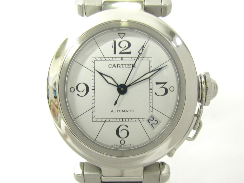 WATCH 時計 自動巻き ステンレススチール(SS) メンズ 美品 ブランドオフ ウォッチ BRAND 【中古】【送料無料】カルティエ オートマチック   腕時計 (W31074M7) パシャC OFF ブランド ホワイト Cartier レディース