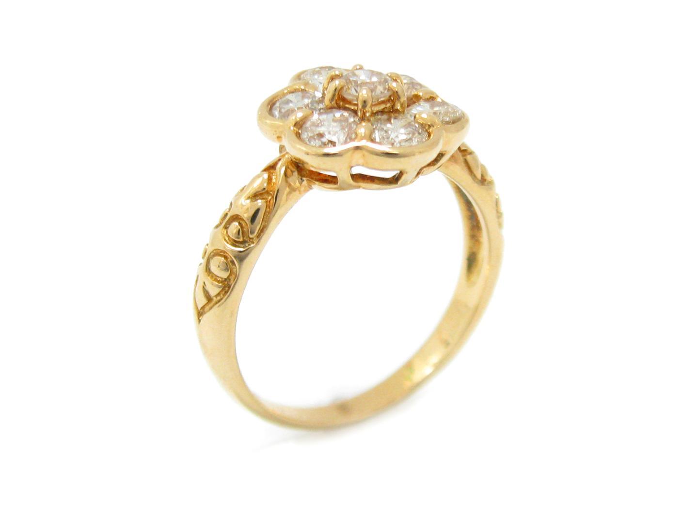 【中古】【送料無料】ジュエリー ダイヤモンド リング 指輪 レディース K18 イエローゴールド x ダイヤモンド (1.00ct) | JEWELRY リング 美品 18K K18 18金 ブランドオフ BRAND OFF