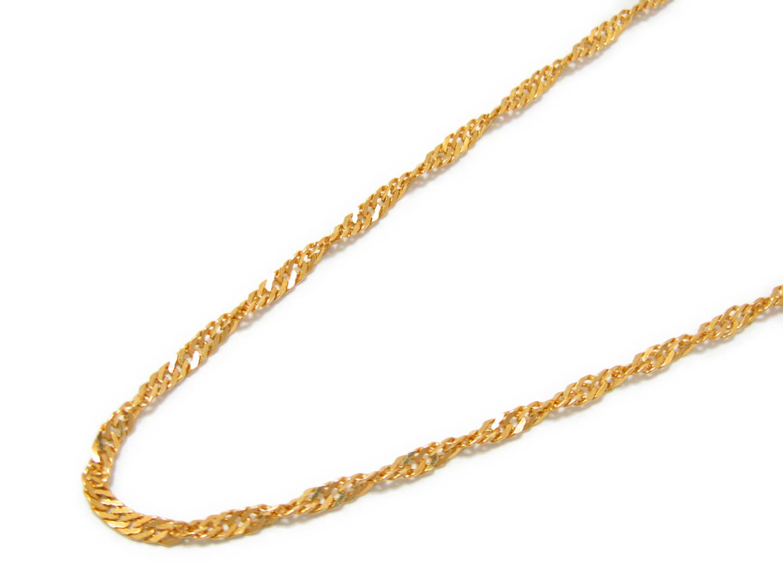【中古】ジュエリー イエローゴールド チェーン ネックレス メンズ レディース K18YG(750) イエローゴールド | JEWELRY ネックレス 美品 18K K18 18金 ブランドオフ BRAND OFF