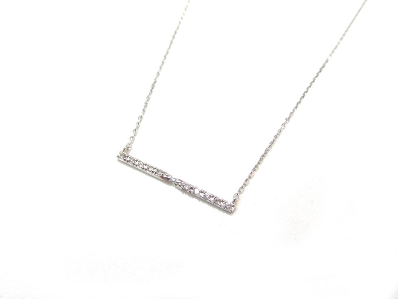 【中古】ジュエリー ダイヤモンドネックレス レディース K18WG(750) ホワイトゴールドダイヤモンド(0.068) | JEWELRY ネックレス 美品 ブランドオフ BRANDOFF
