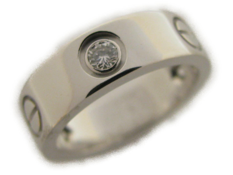 【中古】【送料無料】カルティエ ハーフダイヤラブリング 指輪 レディース K18WG(750) ホワイトゴールド | Cartier リング ジュエリー 美品 18K K18 18金 ブランド ブランドオフ BRAND OFF