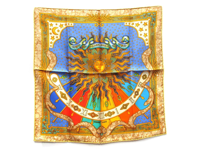 【中古】エルメス カレ40 スカーフ メンズ レディース シルク マルチカラー   HERMES スカーフ カレ 45 美品 ブランド ブランドオフ BRAND OFF