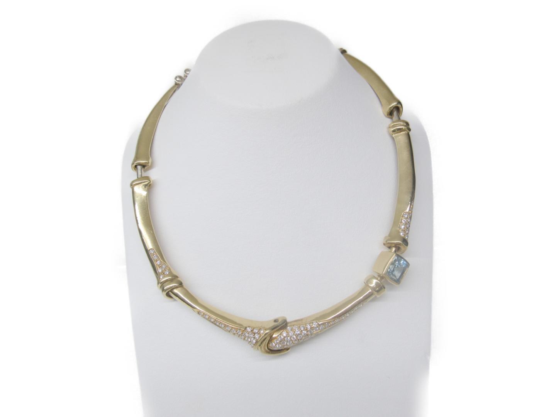 【中古】【送料無料】ジュエリー 色石 ダイヤモンド ネックレス レディース K18YG(750) イエローゴールド x 色石 x ダイヤモンド   JEWELRY ネックレス 美品 ブランドオフ BRANDOFF
