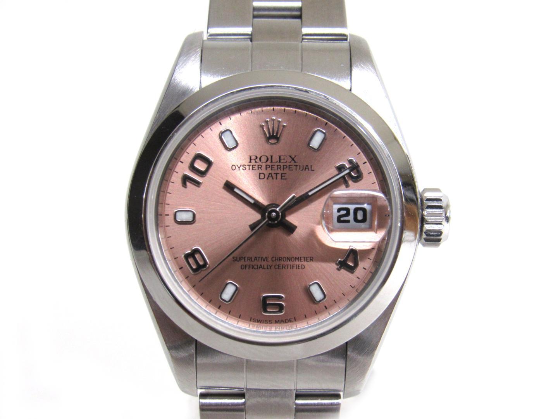 【中古】【送料無料】ロレックス オイスターパーペチュアル 腕時計 ウォッチ レディース ステンレススチール(SS) ピンクxシルバー (69160) | ROLEX オートマチック 美品 ブランド ブランドオフ BRANDOFF