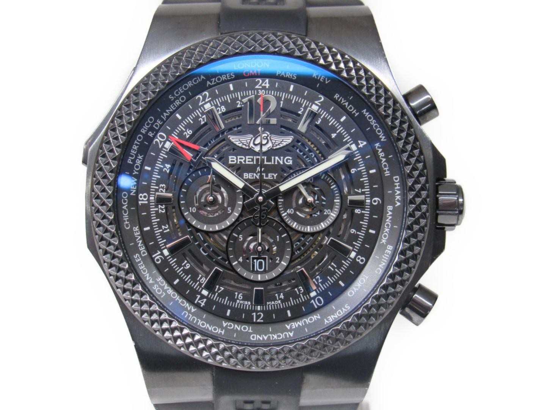 【中古】【送料無料】ブライトリング ベントレーGMT 腕時計 ウォッチ メンズ ステンレススチール(SS)×ラバー (M47362) | BREITLING オートマチック 美品 ブランド ブランドオフ BRANDOFF