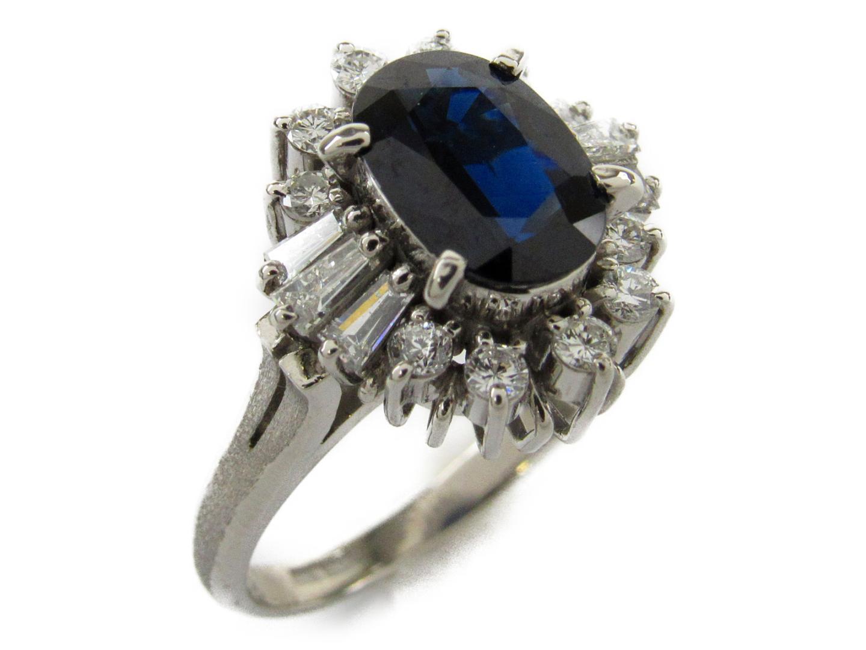 【中古】【送料無料】ジュエリー サファイア ダイヤモンド リング 指輪 レディース PT900 プラチナxサファイア1.83/ダイヤモンド0.60ct | JEWELRY リング 美品 ブランドオフ BRANDOFF