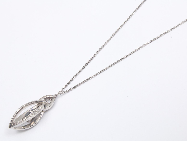 【中古】【送料無料】ジュエリー ダイヤモンド ネックレス レディース K18WG(750) ホワイトゴールド x ダイヤモンド(0.342ct/0.14ct) | JEWELRY ネックレス 美品 ブランドオフ BRANDOFF