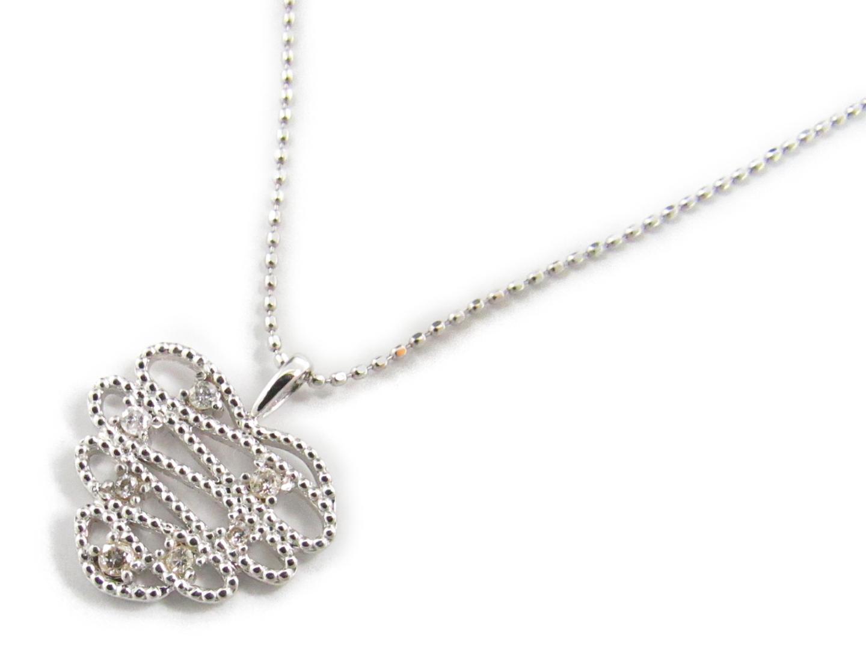 【中古】ジュエリー ダイヤモンド ネックレス レディース K18WG(750) ホワイトゴールドxダイヤモンド0.12ct | JEWELRY ネックレス 美品 ブランドオフ BRANDOFF