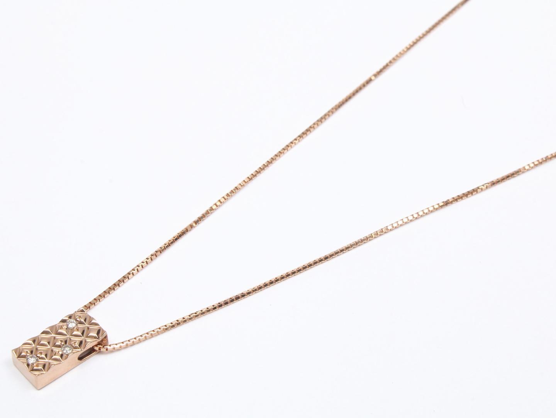 【中古】ジュエリー ダイヤモンド ネックレス レディース K18PG(750) ピンクゴールド x ダイヤモンド | JEWELRY ネックレス 美品 ブランドオフ BRANDOFF
