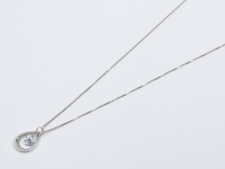 【中古】ジュエリー ダイヤモンド ネックレス レディース K18WG(750) ホワイトゴールド x ダイヤモンド(0.21ct/0.05ct) | JEWELRY ネックレス 美品 ブランドオフ BRANDOFF