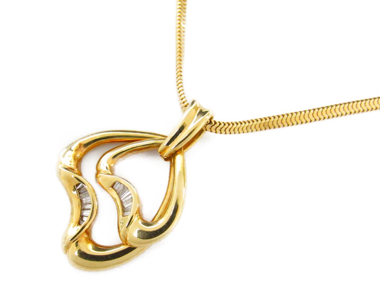 【中古】【送料無料】ジュエリー ダイヤモンド ネックレス レディース K18YG(750) イエローゴールドxダイヤモンド0.25ct | JEWELRY ネックレス 美品 ブランドオフ BRANDOFF