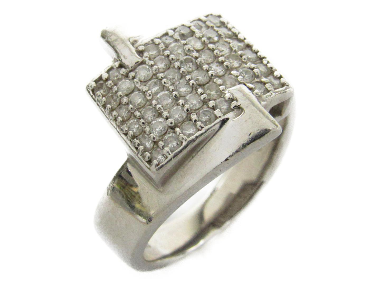【中古】ジュエリー ダイヤモンド リング 指輪 ユニセックス PT900 プラチナxダイヤモンド0.50ct