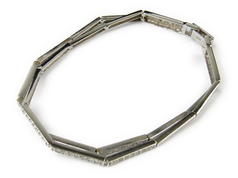 【中古】ジュエリー ダイヤモンド ブレスレット レディース K18WG(750) ホワイトゴールドxダイヤモンド1.00ct