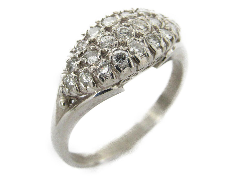 【中古】ジュエリー ダイヤモンド リング 指輪 レディース PT900 プラチナx0.04ct