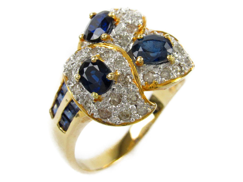 【中古】【送料無料】ジュエリー サファイア ダイヤモンド リング 指輪 レディース K18YG(750) イエローゴールドxサファイア2.10/ダイヤモンド0.51ct | JEWELRY リング 美品 ブランドオフ BRANDOFF