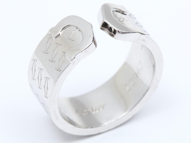 【中古】【送料無料】カルティエ ハッピーバースデーリング 指輪 レディース K18WG(750) ホワイトゴールド | Cartier リング 美品 ブランド ブランドオフ BRANDOFF