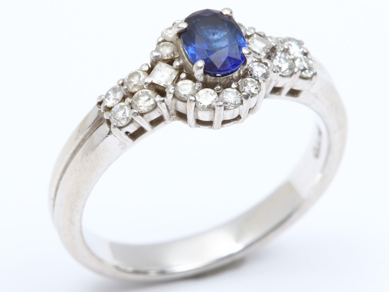 【中古】【送料無料】ジュエリー サファイア ダイヤモンド リング 指輪 レディース PT900 プラチナ x サファイア(0.53ct) x ダイヤモンド(0.35ct) | JEWELRY リング 美品 ブランドオフ BRANDOFF