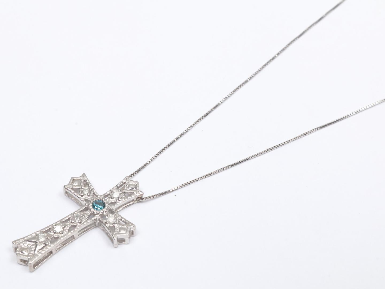【中古】ジュエリー ダイヤモンド ネックレス レディース K18WG(750) ホワイトゴールド x ダイヤモンド | JEWELRY リング 美品 ブランドオフ BRANDOFF