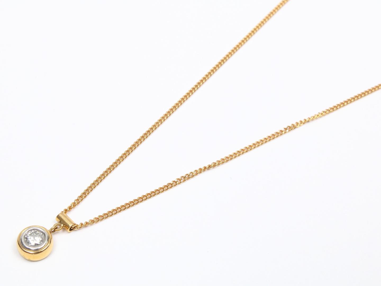 【中古】【送料無料】ジュエリー ダイヤモンド ネックレス レディース K18YG(750) イエローゴールド x ダイヤモンド(0.20ct) | JEWELRY ネックレス 美品 ブランドオフ BRANDOFF
