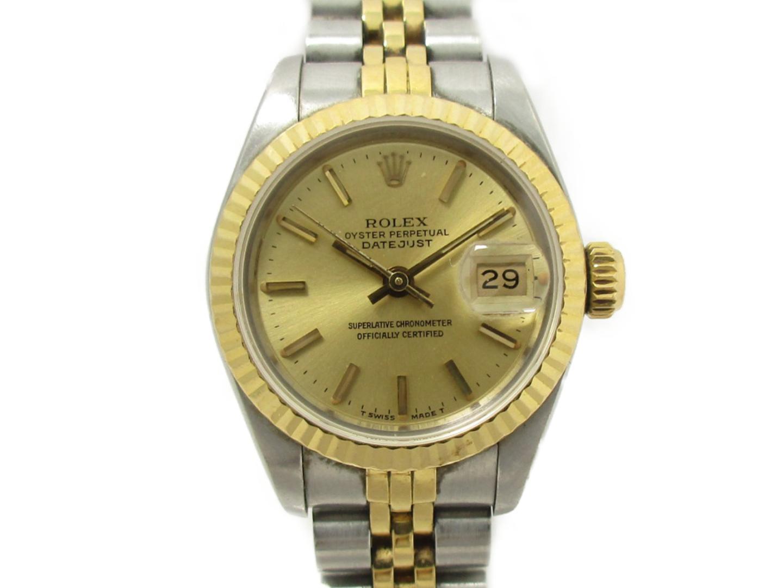 【中古】ロレックス デイトジャスト 腕時計 ウォッチ レディース ステンレススチール(SS)×K18YG (69173 )