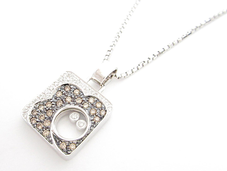 【中古】ジュエリー ダイヤモンドネックレス レディース K18WG(750) ホワイトゴールド ダイヤモンド0.81ct