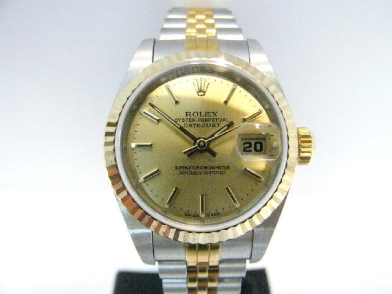 【中古】ロレックス デイトジャスト 腕時計 ウォッチ レディース レディース ステンレススチール(SS)×K18YG シルバー×ゴールド (79173 )