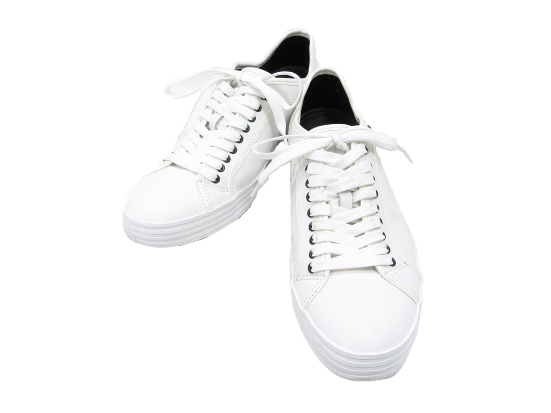 【中古】エンポリオアルマーニ スニーカー メンズ レザー ホワイト | GIORGIO ARMANI 靴 くつ シューズ ブランド ブランドオフ BRANDOFF