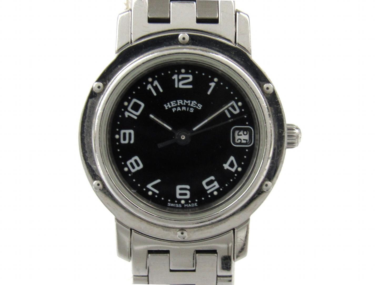 【中古】エルメス クリッパー 腕時計 ウォッチ レディース ステンレススチール(SS) (CL4.210)