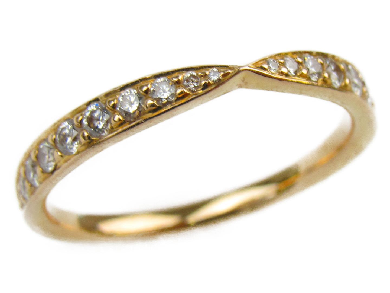 【中古】ティファニー ハーモニーリング 指輪 レディース K18PG(750) ピンクゴールドxダイヤモンド