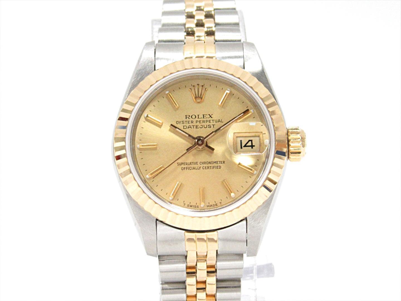 【中古】ロレックス デイトジャスト 腕時計 ウォッチ レディース ステンレススチール(SS)xK18YG(750)イエローゴールド (69173)